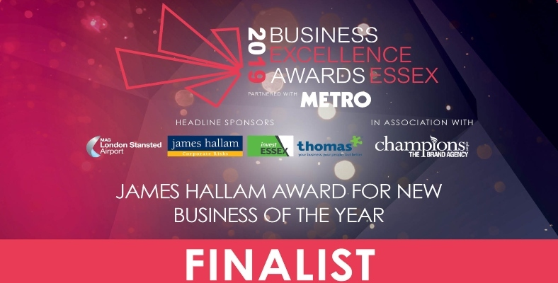 Finalist for 'New Business of the Year 2019'